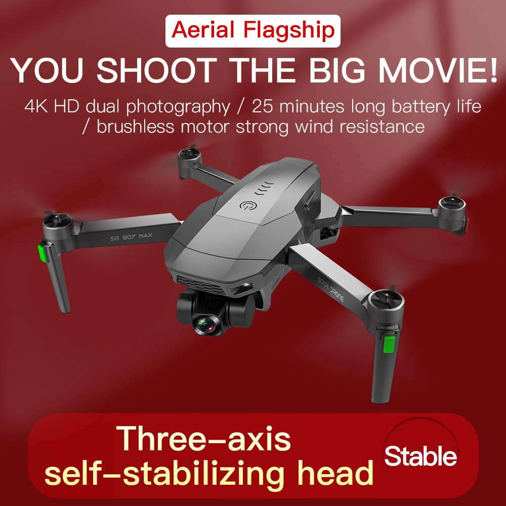 JINHENG SG907MAX GPS Drone 4K HD Dual Camera 5G Professional Aerial Photography Brushless Motor RC Foldable Quadcopter enlarge