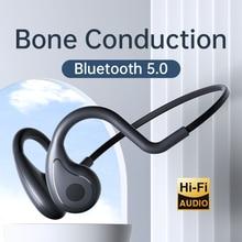 YC True Bone Conduction Headphone Not In-ear Bluetooth Wireless Earphone painless Long Standby Sport