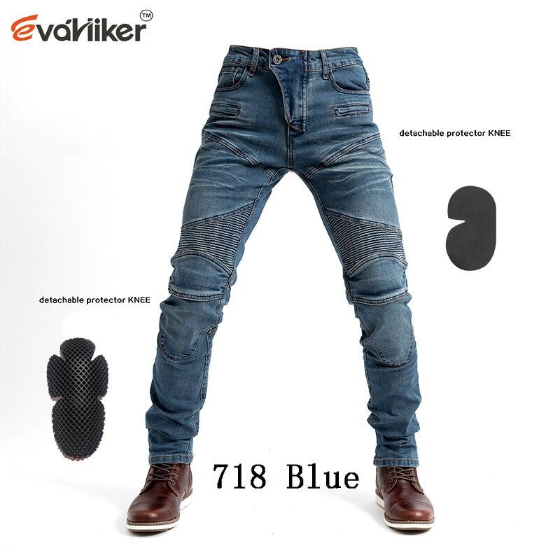 Calças da motocicleta ub718 men moto jeans engrenagem equitação touring calças de motocross com proteger o equipamento