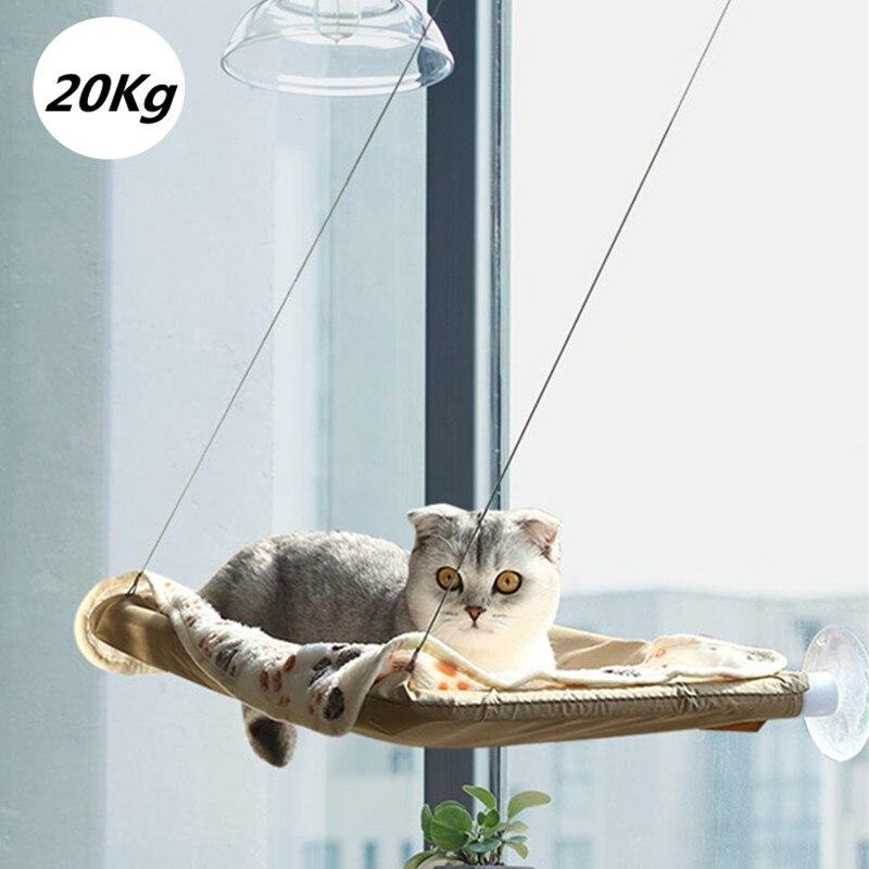 Gato soleado asiento ventana montaje hamaca para gato doméstico cómodo gato mascota cama Linda mascota colgando camas teniendo 20kg