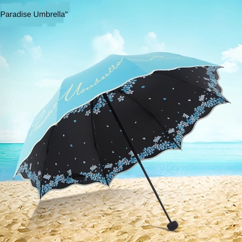 Sombrilla plegable de alta calidad para mujer, sombrilla de viaje resistente a los rayos UV y a la intemperie, sombrilla de bolsillo para mujer