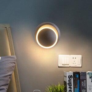 Простая Современная прикроватная лампа, креативные светодиодсветодиодный светильники в стиле модерн Северной Европы, для спальни, гостино...