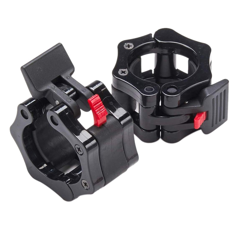 ¡TOP!-50mm abrazaderas de pesas olímpicas barras de pesas bloqueos Collar Clips de liberación rápida para entrenamiento de pesas entrenamiento de Fitness