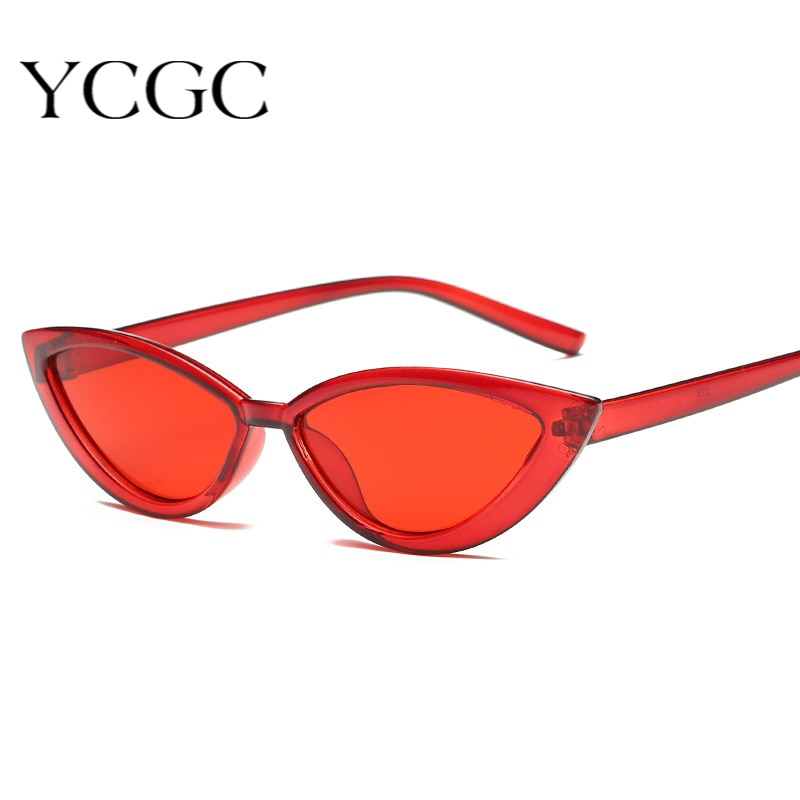Cute Sexy Retro Cat Eye Sunglasses Women Small Black Transparent Pink 2020 Triangle Vintage Cheap Su