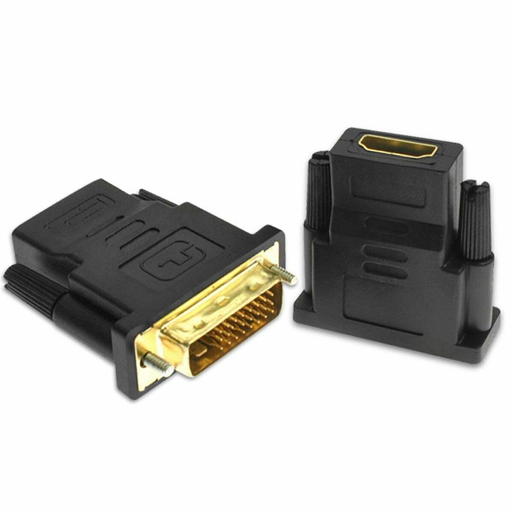 24k позолоченный штекер-гнездо DVI конвертер 1080P для HDTV проектор монитор DVI 24 + 1 к HDMI-совместимые кабели адаптера