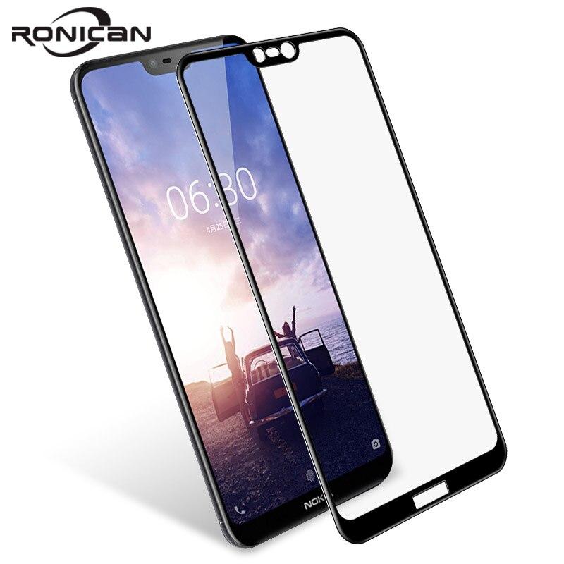 Vidrio Templado RONICAN para Nokia 3 5 6 7 8 3D 9H protector de pantalla para Nokia 7 plus protector película 6,1 5,1 más 3,1 de vidrio 2,1