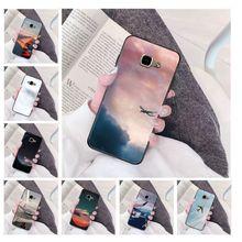 air plane TPU Soft Silicone Phone Case Cover for Samsung a3 a5 a6 a9 a7 a8 a10 a20 a40 a70 case