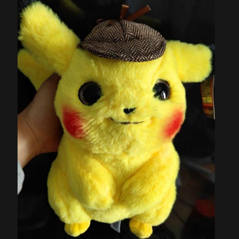 Alta calidad Pikachu Detective muñeco de juguete de peluche Super similar a la película Anime juego juguetes para niño cumpleaños Fans regalo