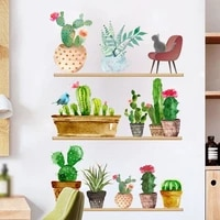 cactus potted plant wall stickers printed decal creative home decor living room decals wallpaper bedroom nursery window decor