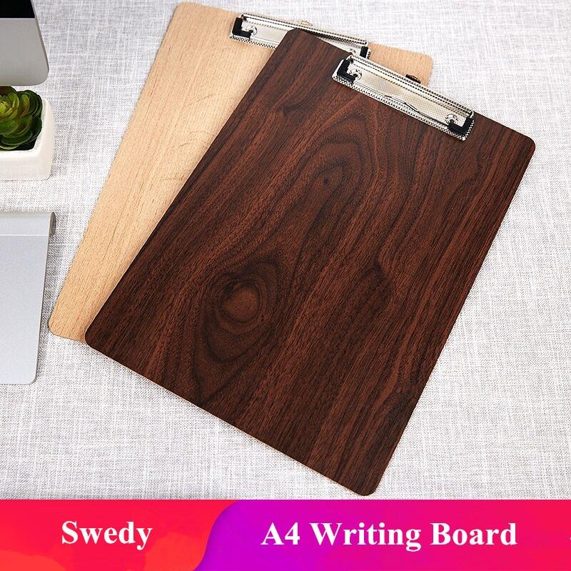 Деревянный зажим для файлов формата A4, щипцы для меню, Письменная доска для медсестер, врачей, студентов, классов, офисов, ресторанов
