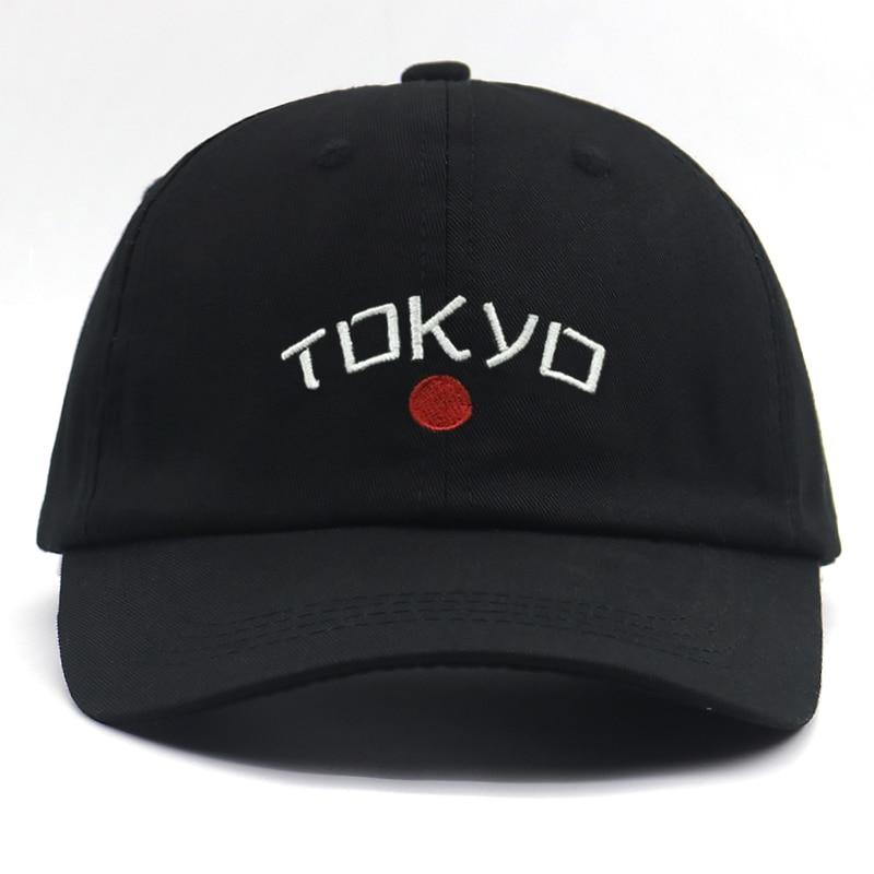 Бейсболка с вышивкой японского города Токио, регулируемая бейсболка из 100% хлопка, чисто черная, модная мужская и женская бейсболка в стиле х...