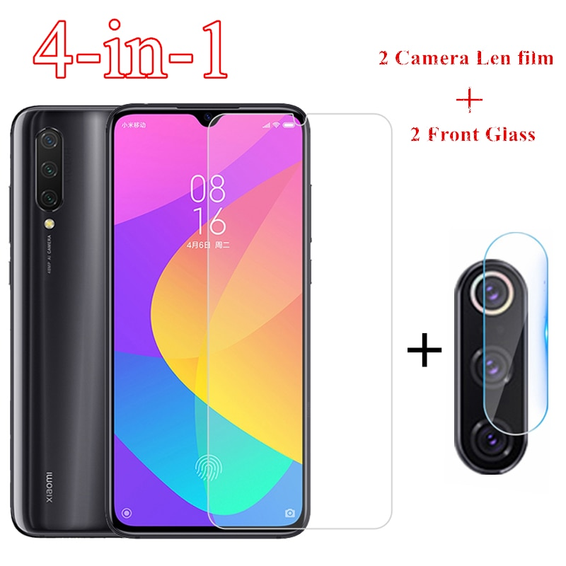 2pcs para Xiaomi MI 9 10 hoja de vidrio para Xiaomi redmi Nota 9s 8 7 Pro Pantalla 8T 8A 7A 6A vidrio templado Protector de Len de la cámara de cine