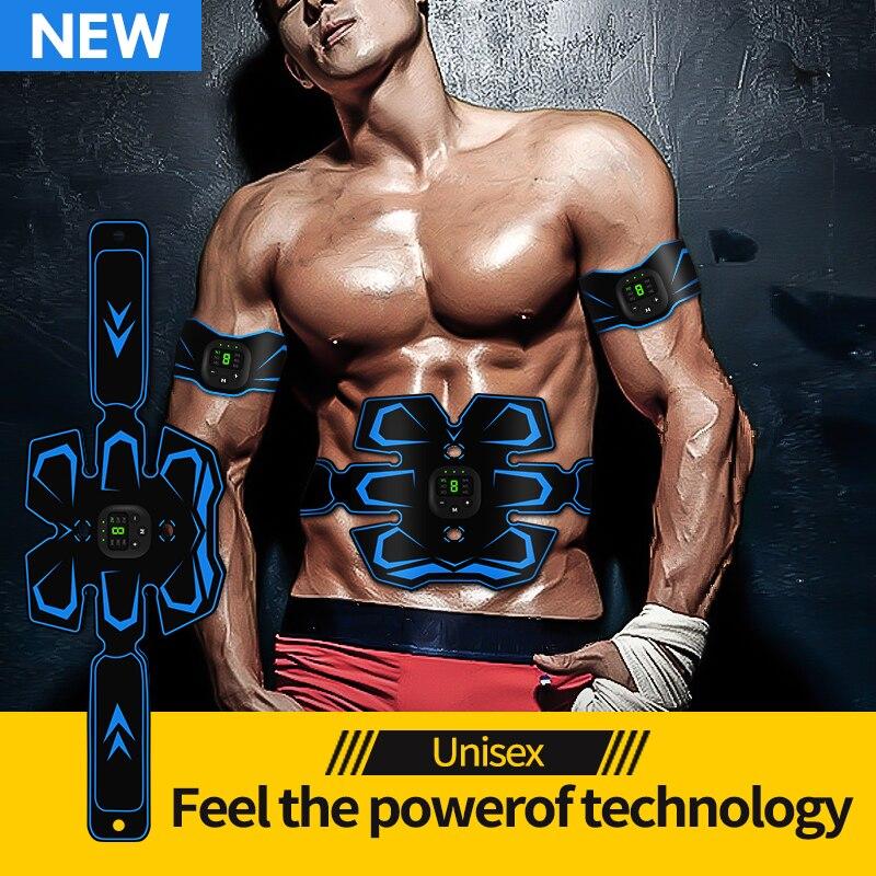 2020 EMS cinturón de tonificación Abdominal de Estimulador muscular inalámbrico Tonificador Muscular entrenador de ejercicios de músculos para Abdomen pierna de brazo Unisex