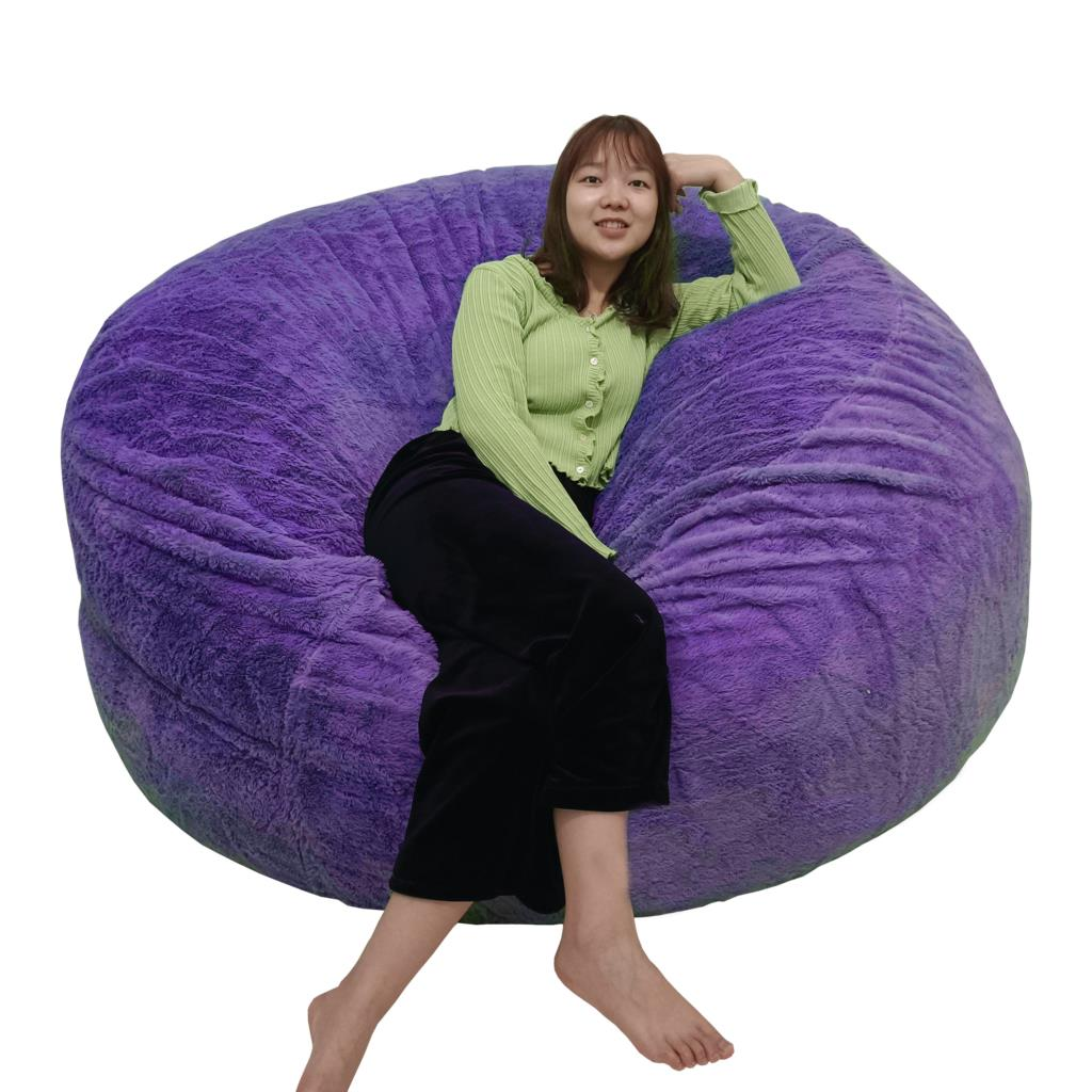 دروبشيبينغ XXL الفراء غطاء مقعد أريكة غرفة المعيشة لا رغوة كيس فول كيس غطاء أثاث صالة