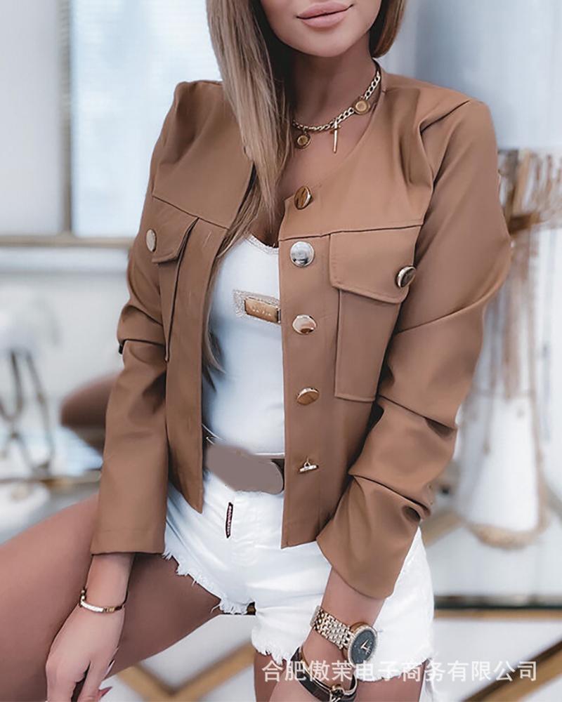 Женские куртки, новые модные куртки с длинным рукавом, женские повседневные куртки цвета хаки в европейском и американском стиле