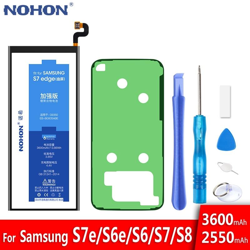 Batería NOHON para Samsung Galaxy S7 S6 edge S8 G950F G935F G930F G925F G920F reemplazo Original Bateria + herramientas