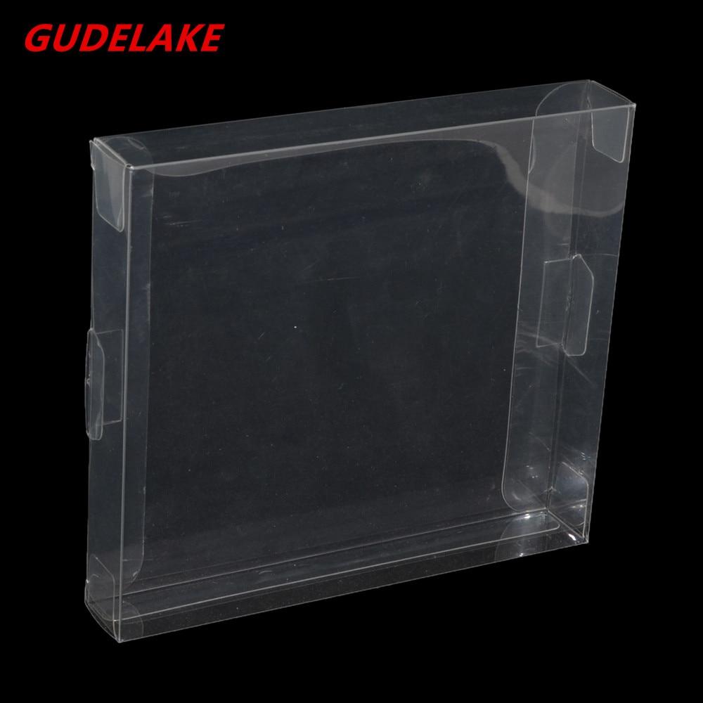 200 Uds estuche transparente de plástico para Cartucho de PET, cajas de juego transparentes, Protector para tarjeta de juego NES
