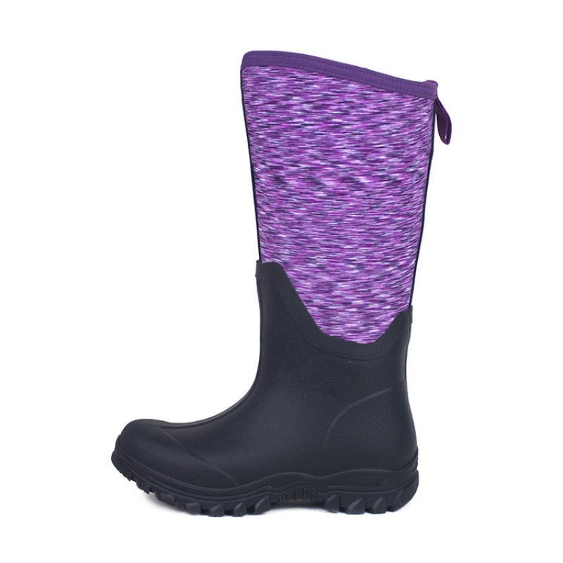 Fashion High Boots Women Rubber Shoes Waterproof Rain Boots Tall 2021 Autumn Female Fashion Shoes Back Zipper Rubber Boots Lady