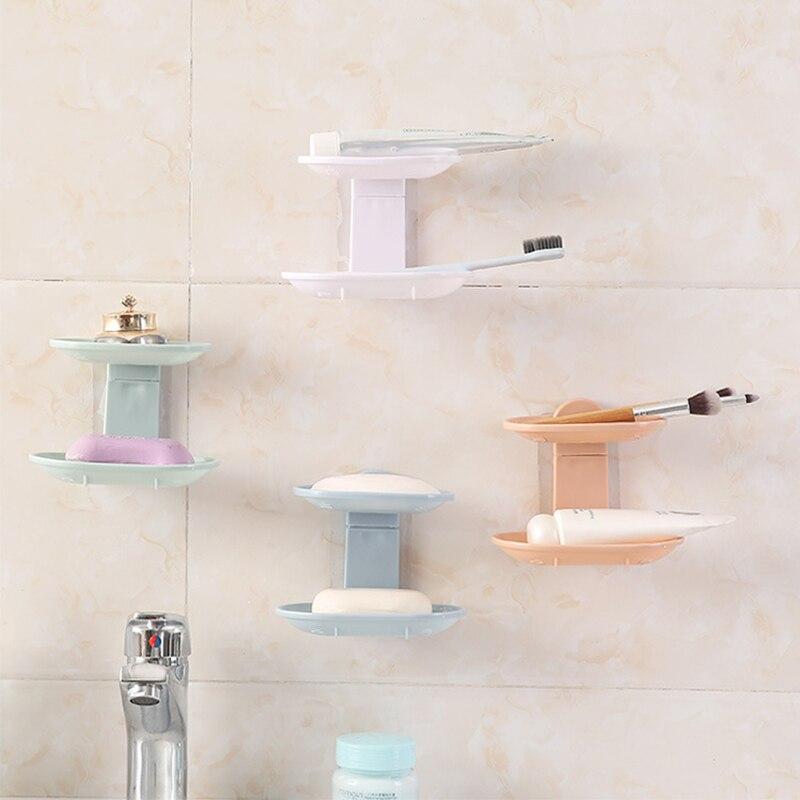 Jabonera de doble capa, caja de jabón de baño, bandeja para utensilios de cocina, jabonera, estante de ducha de alta calidad, accesorios de baño