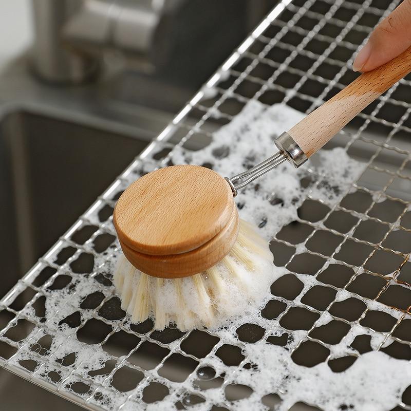 Щетка для чистки кухни, щетка для чистки, щетка для чистки бамбуковой посуды, щетка для чистки кастрюль, кухонная щетка для посуды, инструмен...