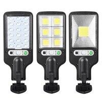 Уличные светодиодсветодиодный фонари на солнечной батарее, водонепроницаемый светильник с датчиком движения человека, охранное освещение...