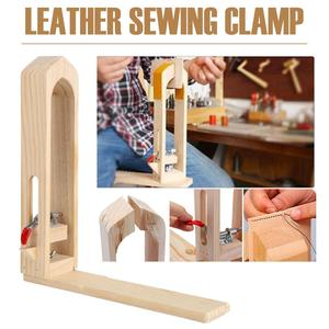 Wood Sewing Tools Leather Craft Retaining Clip DIY Hand Tool Set Table Desktop Stitching Lacing Pony Horse Clamp Tools