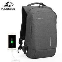 Kingsons antivol externe USB charge sac à dos pour ordinateur portable étanche pour ordinateur portable sac voyage daffaires pour hommes et femmes ordinateur