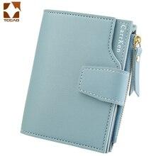 women's wallet carteira feminina leather wallet short porte money women Three fold zipper slim porte feuille femme  cartera