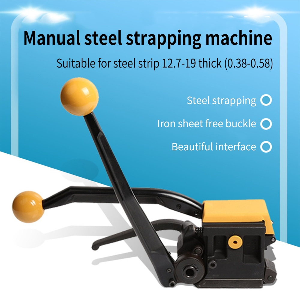 the sensitivity of a19 pneumatic packing machine hand buckle free pet strap pp automatic strapping machine packing belt hot melt A333 Manual Steel Strapping Machine Iron Sheet Free Buckle Steel Strap Manual Strapping Machine Pack Packing Machine