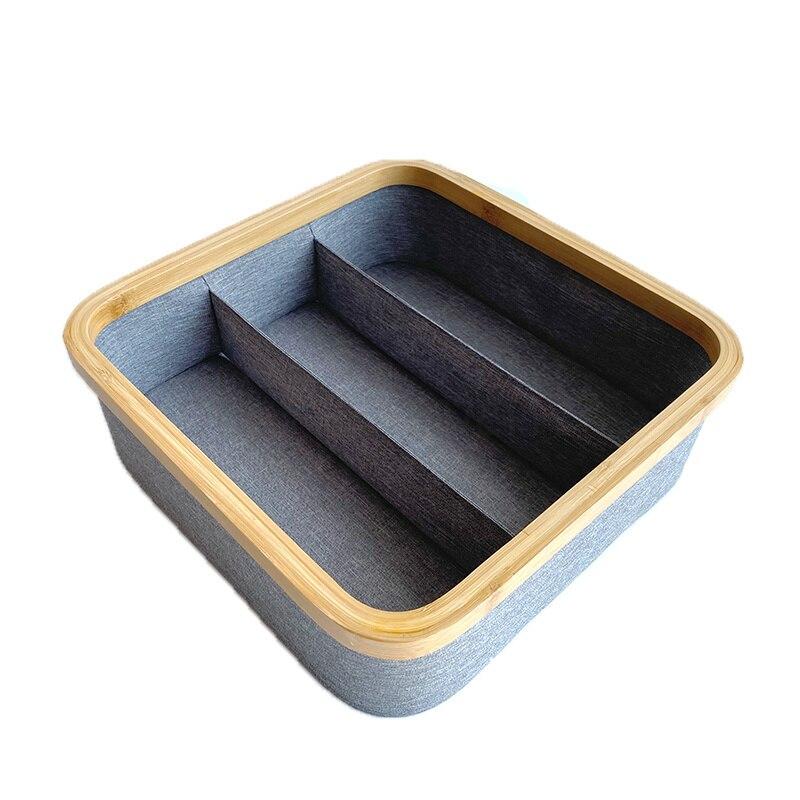 المنزلية النسيج صندوق تخزين الملابس الداخليّة درج نوع الملابس الداخلية الجوارب الملابس الداخلية فرز صندوق التقسيم صندوق تخزين