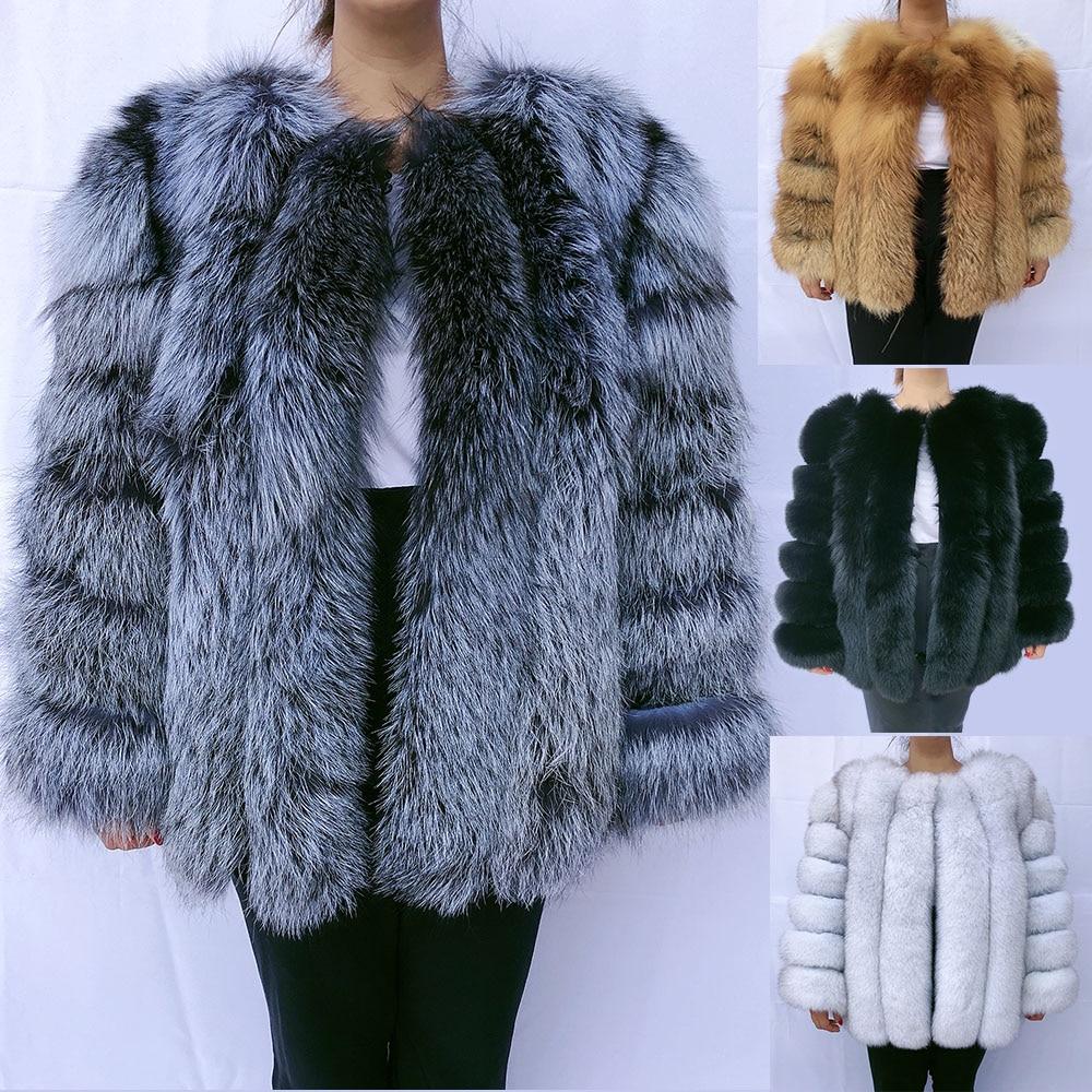 Natural fox fur coat vest silver fox red fox fur coat fur jacket real fur real fur gilet natural fur women's winter jacket 2020 фото