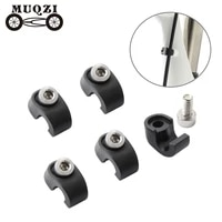 muqzi 5pcs bike fork cable clamp hydraulic disc brake hose fixed buckle fork cable housing guide repair accessory