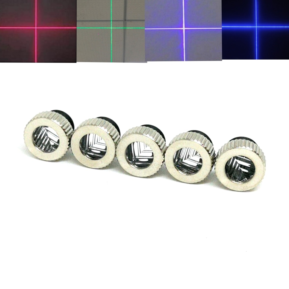 5 шт. Крест луч лазер линза для 405 нм 450 нм 532 нм 650 нм 780 нм 808 нм 980 нм RGI лазеры диод фокус