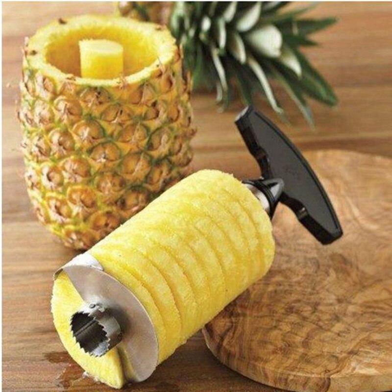Cortador de piña de acero inoxidable actualizado peladores de frutas zesters piña Corer utensilios con cuchillas accesorios de cocina