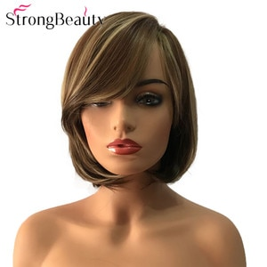 StrongBeauty Short Bob Hair Synthetic Wigs Heat Resistant Natural Women's Wig