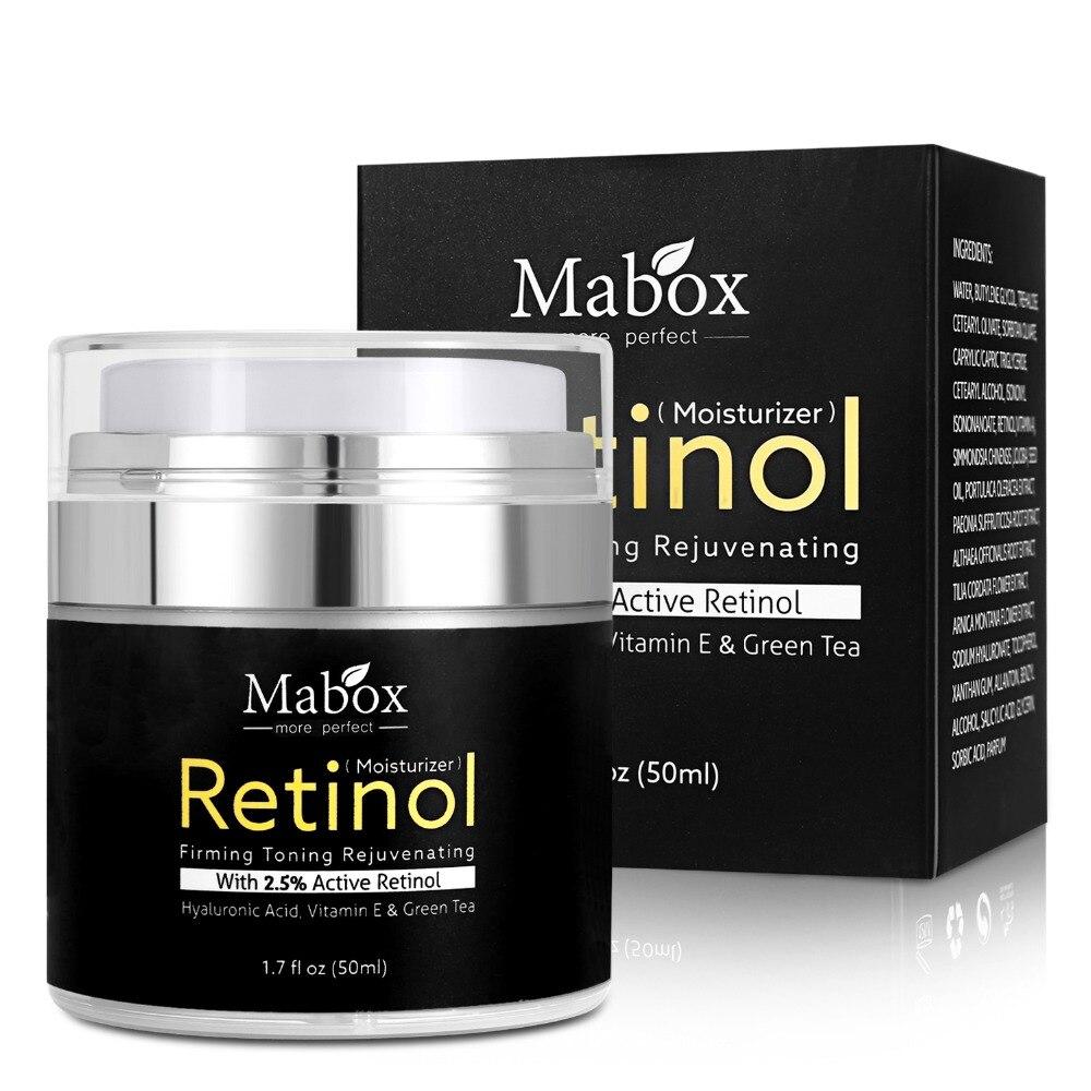 Mabox retinol 2.5 creme hidratante para o rosto ácido hialurónico hidratante ha creme de clareamento anti-envelhecimento anti-rugas