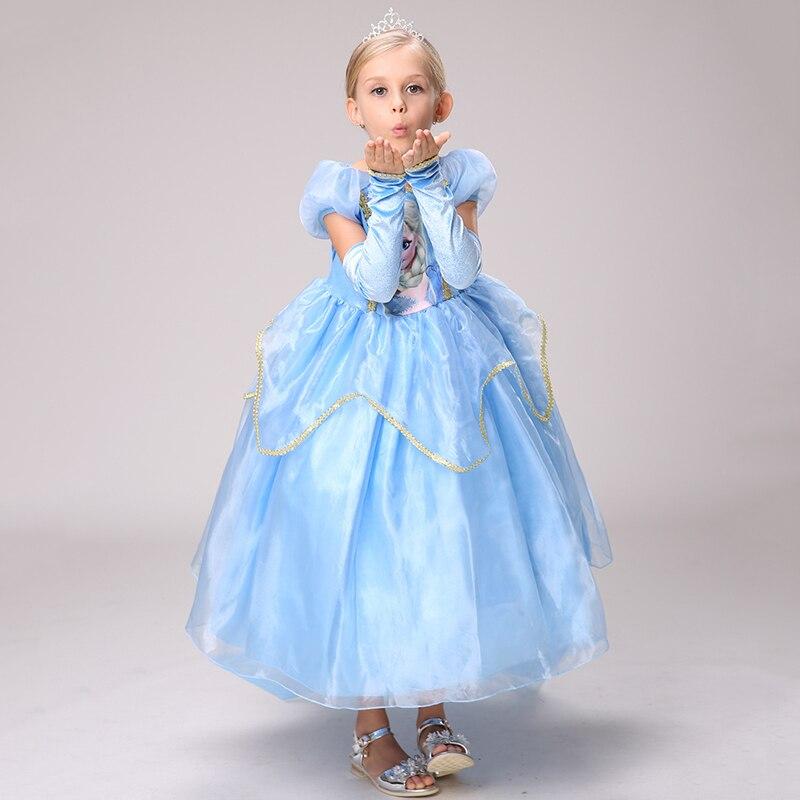 Vestido de princesa de Disney Frozen, vestido de algodón para niña europea y americana, vestido Aisha