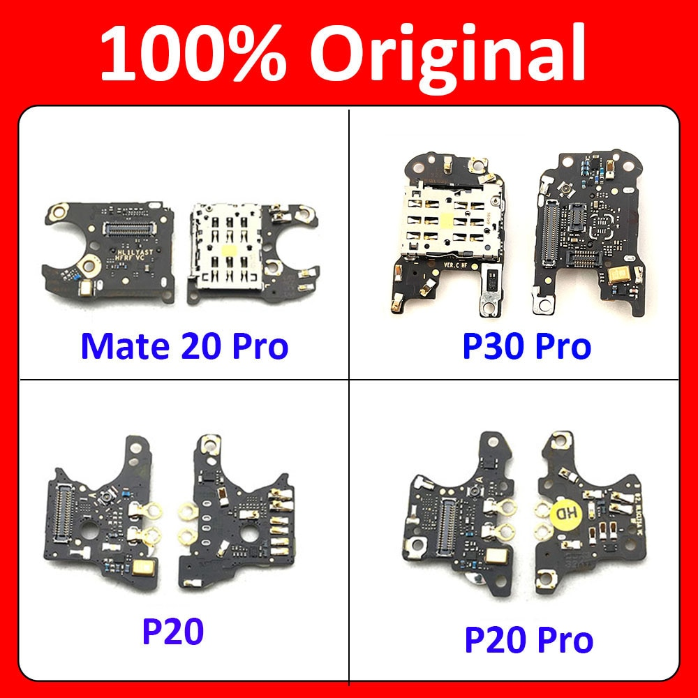 New For Huawei Mate 10 20 P20 P30 Pro SIM Card Reader Holder Slot Flex Cable Connector Board + Micro