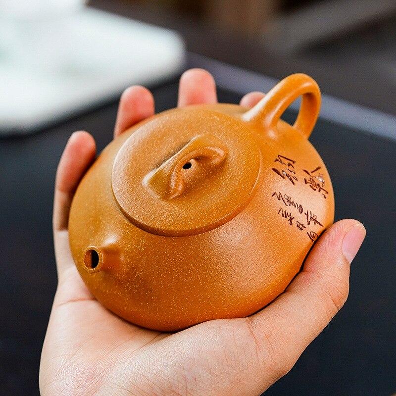 ييشينغ إبريق الشاي خام الطين Duan سعة صغيرة اليدوية Shipiao غلاية إرسال هدية صندوق