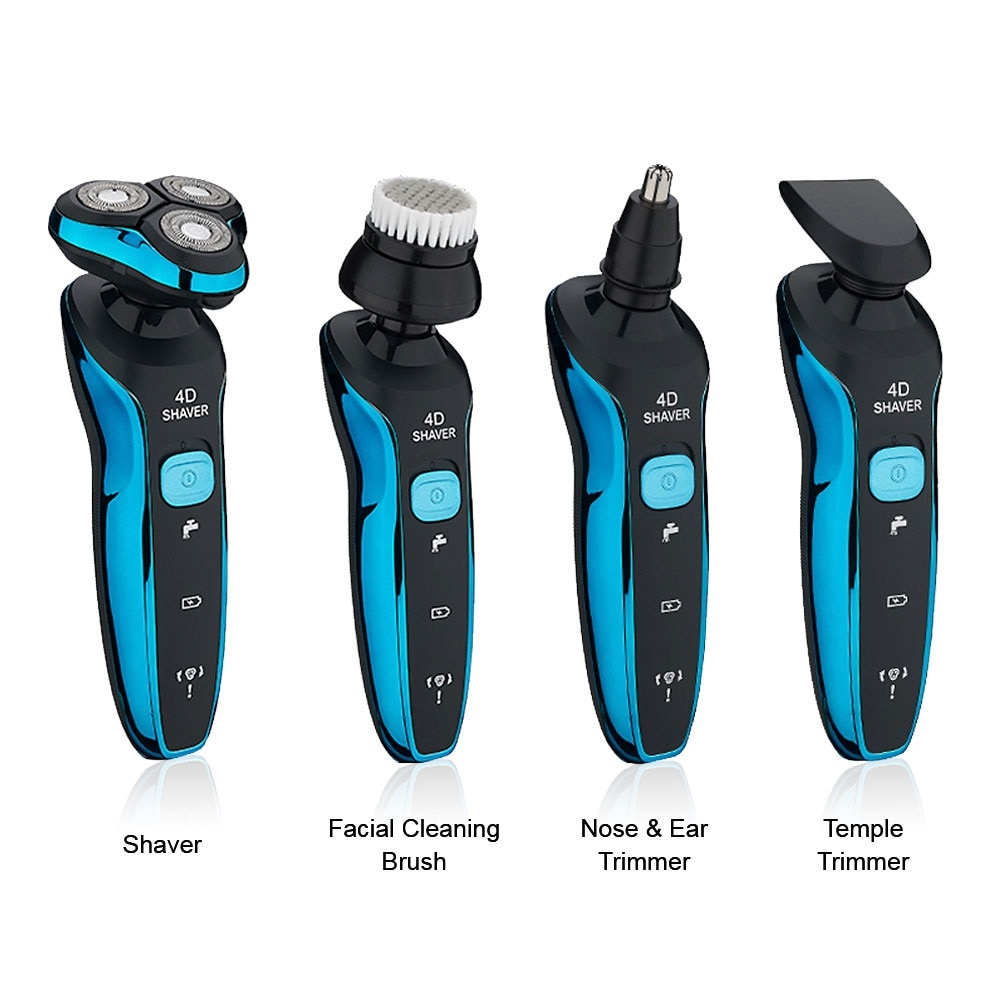 Electric Shavers Shaving Machine 4 in 1 Beard Razors 4D 3 Blades Nose Hair Trimmer Clipper Rechargeable for Men's Face USB Sex enlarge