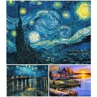 5d diy diamond painting van gogh starry sky full square drill cross stitch kit embroidery mosaic picture home decoration artwork