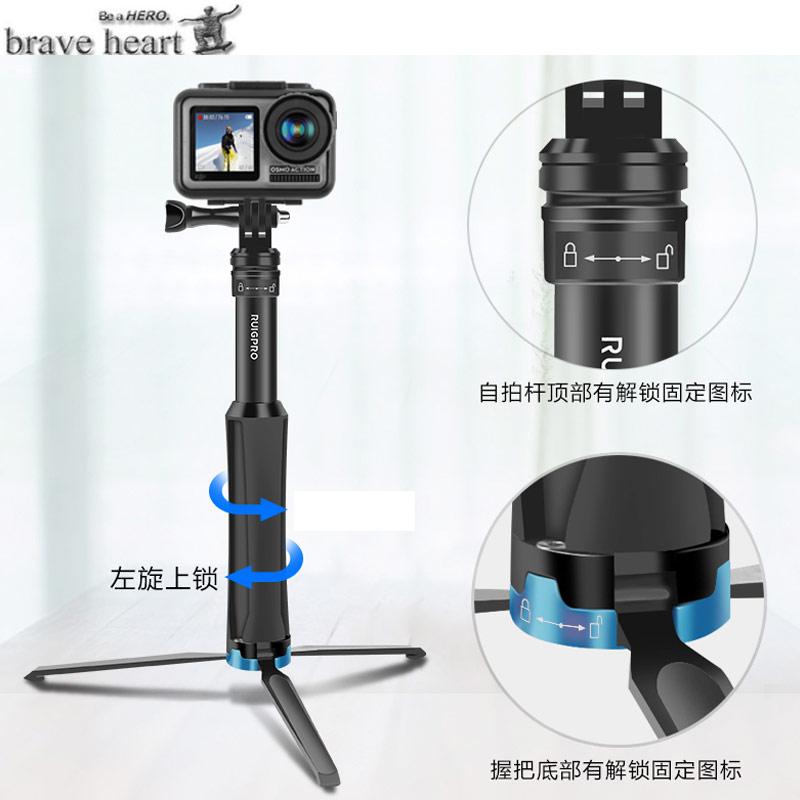 Aluminum tripod selfie stick monopod For gopro Go pro hero 8 7 6 5 4 3 sj4000 xiaomi yi hero6 hero7 hero8 camera Accessories