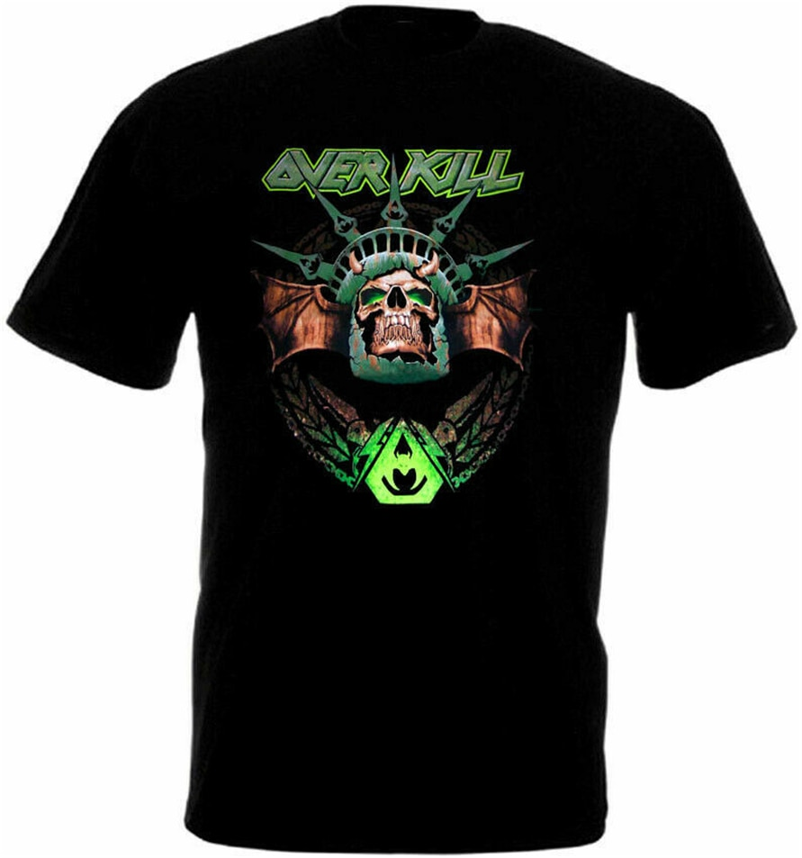 Overkill póster 3 camiseta negro Thrash Heavy Metal S-3Xl diseño divertido camiseta