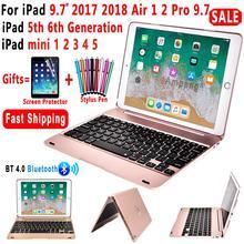 Clavier intelligent pour Apple iPad 9.7 2018 2017 5th 6th Génération Dair 1 2 Air1 Air2 5 6 Pro 9.7 A1893 A1954 A1822 mini 2 3 4 5