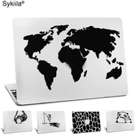 laptop sticker for macbook air 11 12 13 pro 13 15 16 17 vinyl skin black decal world map earth camera notebook cover travel