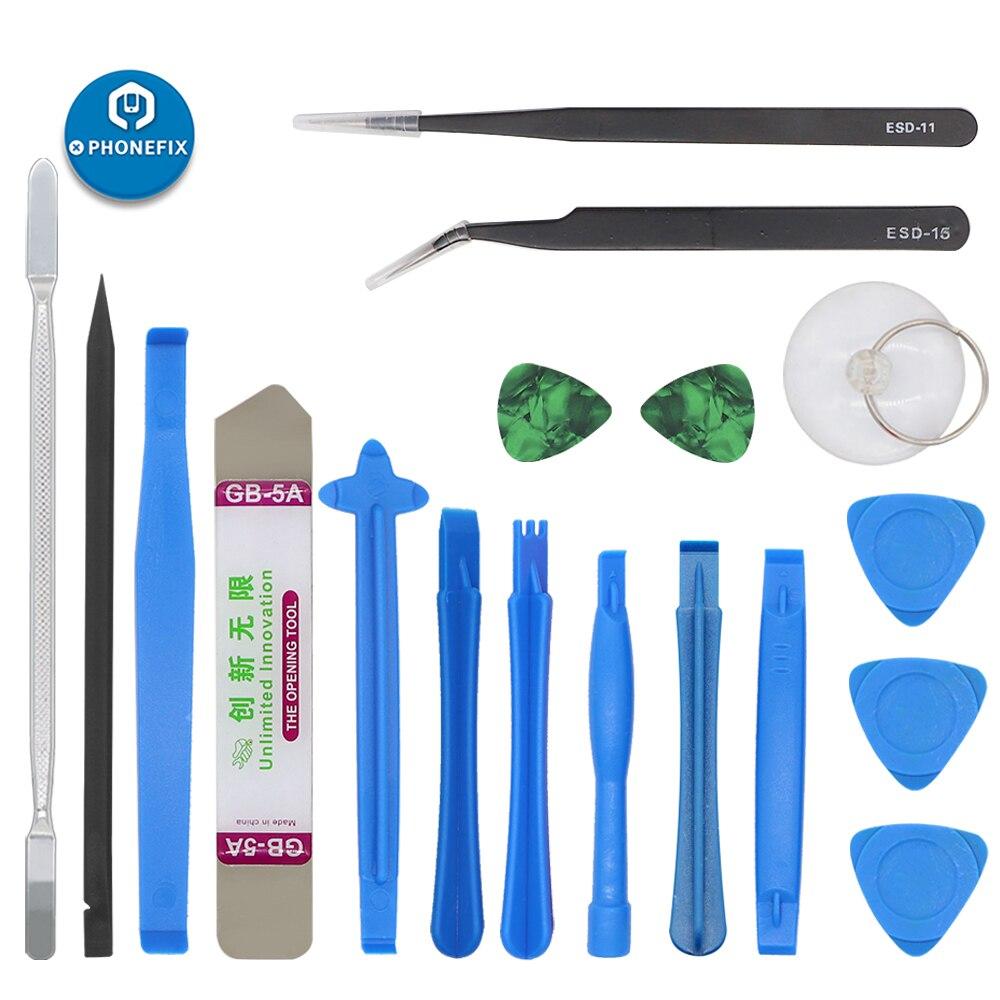 18pcs Spudger Ferramenta de alavanca de Plástico Ventosa Abridor Anti-Static Pinças Kit de Reparo da Tela LCD para iPhone Samsung laptop PC de Mesa