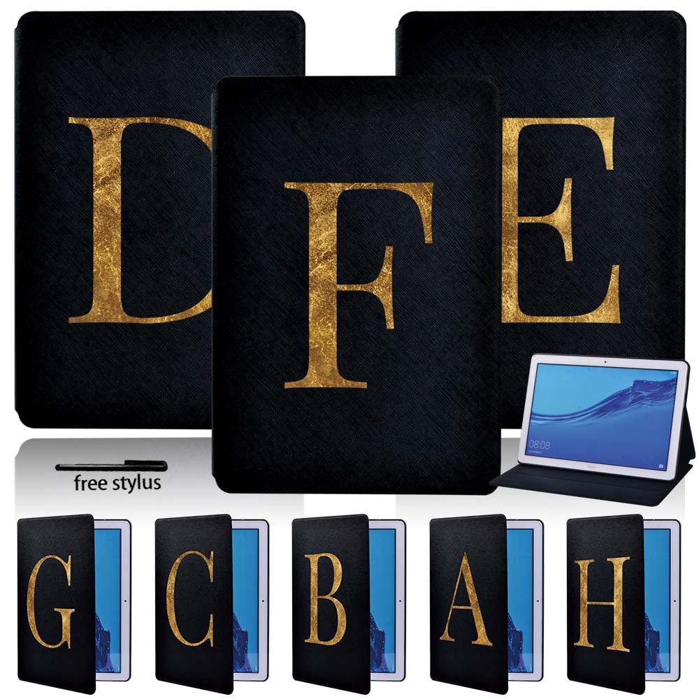 Funda para tableta a prueba de golpes para Huawei MediaPad T3 8,0/T3 10 9,6/T5 10 10,1 funda ligera delgada de cuero Pu + pluma