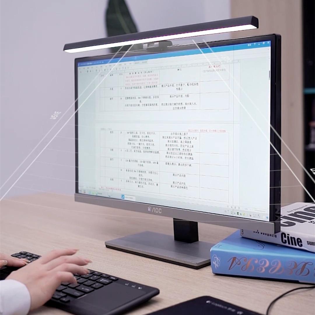الذكية USB بالطاقة شاشة الكمبيوتر مصباح معلق سطوع قابل للتعديل دراسة حماية العين E-القراءة الخفيفة للمنزل والمكتب