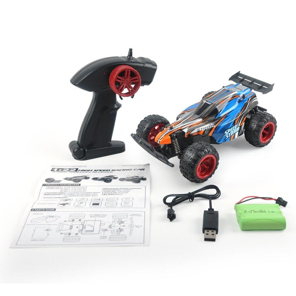9600-1 122 RC Car 2,4G Control remoto eléctrico coche de escalada 20 KM/H alta velocidad modelo de carreras Buggy niños juguetes con batería ni-cd