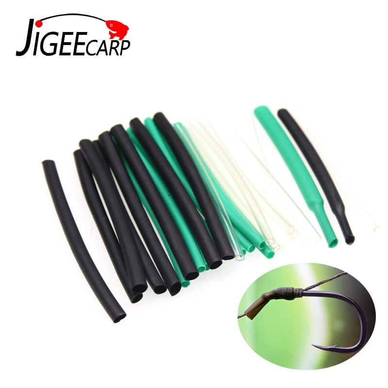 JIGEECARP 1/2m Heat Shrink Tube Carp Fishing Rig Make Material Shrink Tube 1/1.5/2/2.5/3/3.5mm Anti Tangle Sleeve Accessory